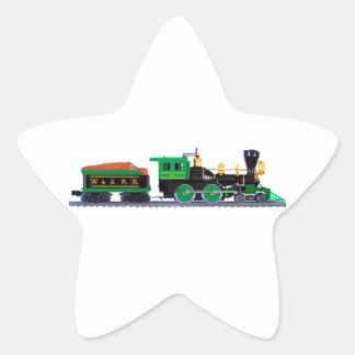 Black And Green Train Star Sticker