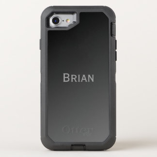 Black and Grey Add your Name OtterBox Defender iPhone 8/7 Case