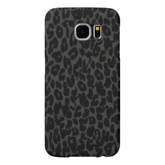 Black and grey animal fur skin of leopard samsung galaxy s6 cases