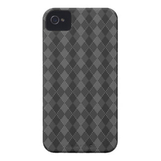 Black and grey argyle pattern iPhone 4 case