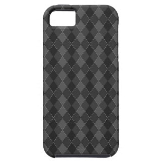 Black and grey argyle pattern iPhone 5 case
