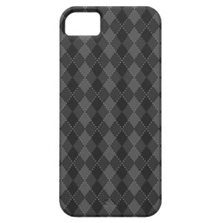 Black and grey argyle pattern iPhone case