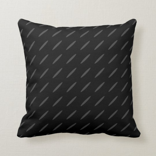 Black and Grey Background Design, Thin Ovals. Cushion
