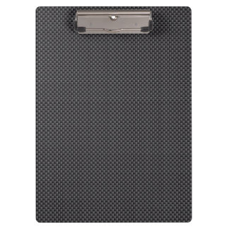 Black and Grey Carbon Fiber Material Clipboard