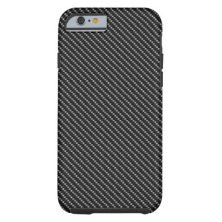 Black and Grey Carbon Fiber Pattern Base Tough iPhone 6 Case