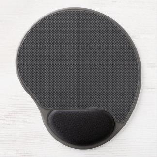 Black and Grey Carbon Fiber Polymer Gel Mouse Mat