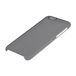 Black and Grey Carbon Fiber Polymer iPhone 6 Plus Case