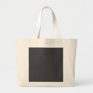 Black and Grey Carbon Fiber Polymer Large Tote Bag