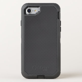 Black and Grey Carbon Fiber Polymer OtterBox Defender iPhone 7 Case