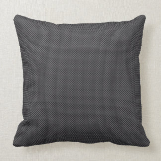 Black and Grey Carbon Fiber Polymer Throw Pillow
