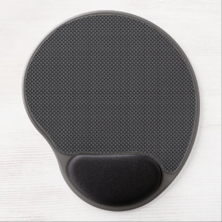 Black and Grey Carbon Fibre Polymer Gel Mouse Mat