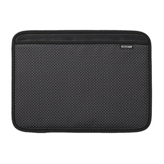 Black and Grey Carbon Fibre Polymer MacBook Sleeve
