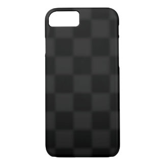 Black and grey chequered pattern iPhone 8/7 case