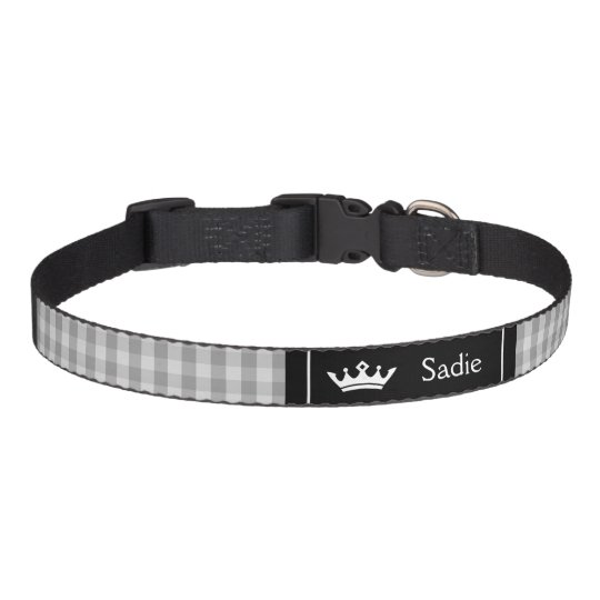 Black And Grey Crown With Gingham Pattern Pet