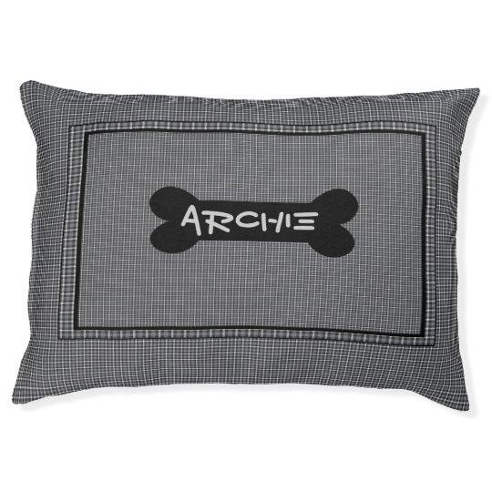 Black And Grey Custom Indoor Dog Bed -