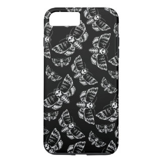 Black and Grey Deaths Head Hawk Moth Gothic Skull iPhone 8 Plus/7 Plus Case