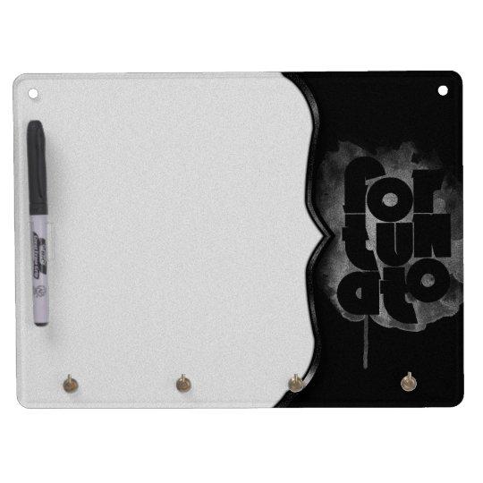 Black and Grey Fortunato Dry Erase Board