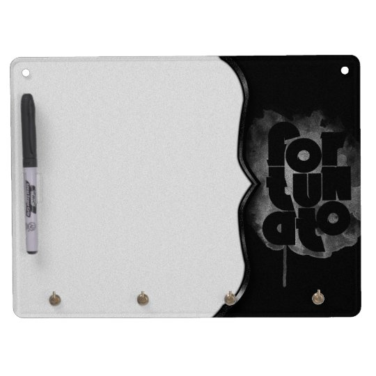 Black and Grey Fortunato Dry Erase Board With Key Ring Holder