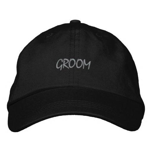 Black and Grey Groom Baseball Cap