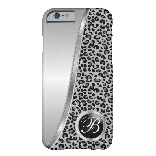 Black and Grey Leopard Print | Monogram Barely