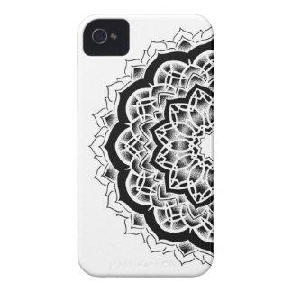Black and grey Mandala iPhone 4 Case-Mate Case