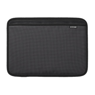 Black and Grey Micro Carbon Fibre Graphite MacBook Sleeve