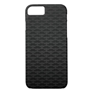 Black and grey moustache pattern iPhone 8/7 case