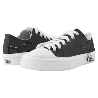 Black and Grey Musical Notes Low Tops