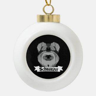Black and Grey Schnauzer Ceramic Ball Decoration