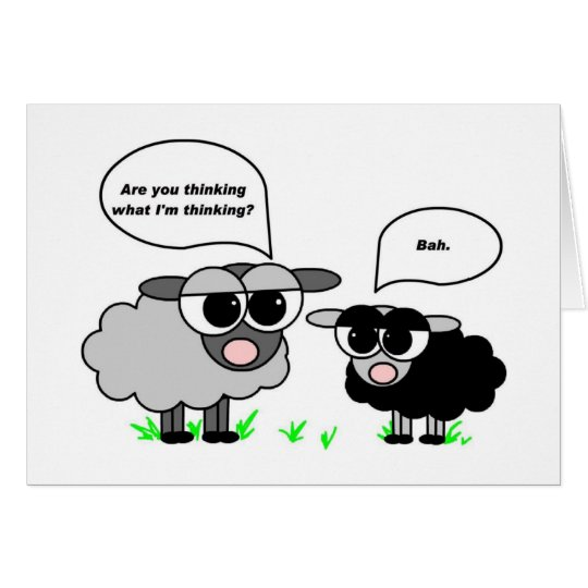 Black and Grey Sheep. Are you thinking what