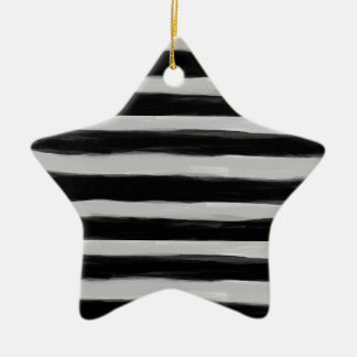 Black and Grey Stripes Christmas Ornament