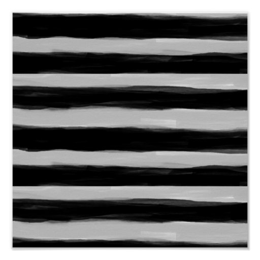 Black and Grey Stripes Poster
