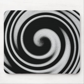Black and grey vortex mouse pad