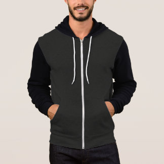 Black and Grey Zipper Hoodie