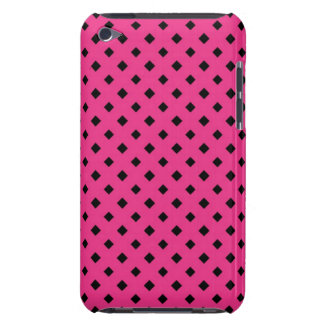 Black and Hot Pink Diamond Pattern iPod Touch Cover