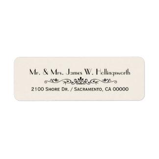 Black and Ivory Custom Return Address Return Address Label