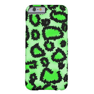 Black and Lime Green Leopard Pattern. Barely There iPhone 6 Case