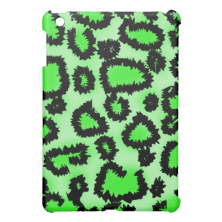 Black and Lime Green Leopard Pern. Case For The iPad Mini