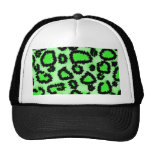 Black and Lime Green Leopard Print Pattern.