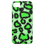 Black and Lime Green Leopard Print Pattern. Case For The iPhone 5
