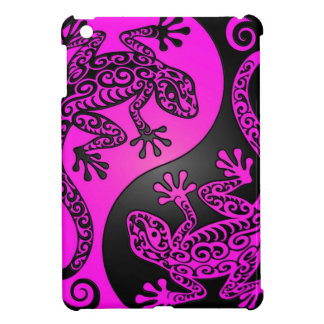 Black and Magenta Yin Yang Geckos iPad Mini Case