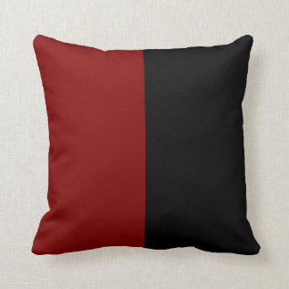 Black and Maroon Split Color. Cushion