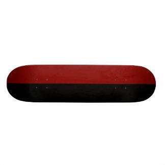 Black and Maroon Split Color. Skate Board Deck