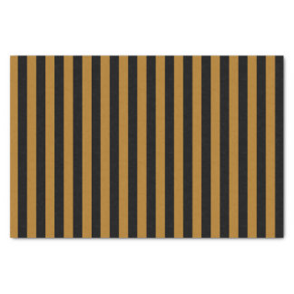 Black and Matte Gold Stripes Tissue Paper