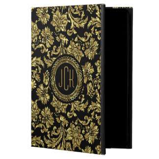 Black And Metallic Gold Floral Damasks 2 Powis iPad Air 2 Case