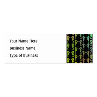 Black and Multicolor Seahorse Pattern. Pack Of Skinny Business Cards