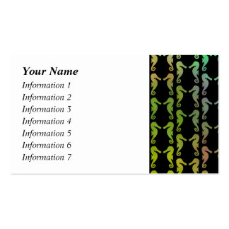 Black and Multicolor Seahorse Pattern. Pack Of Standard Business Cards