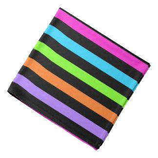 Black and Multicolor Stripes Bandana