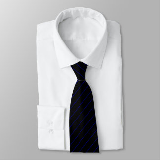 Black and Navy Blue Pinstripe, Double Tie
