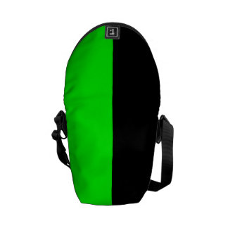 Black and Neon Green Split Color Courier Bags